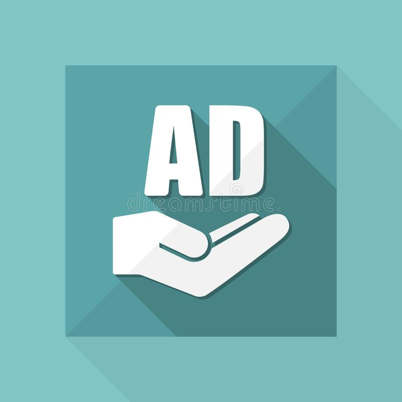 Offerta di servizio - soluzione di pubblicità - icona minima royalty illustrazione gratis