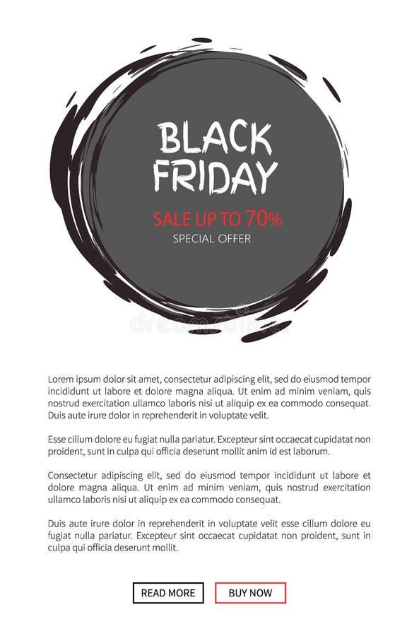 Offerta di vendita di totale di Black Friday Icona rotonda dell'autoadesivo royalty illustrazione gratis