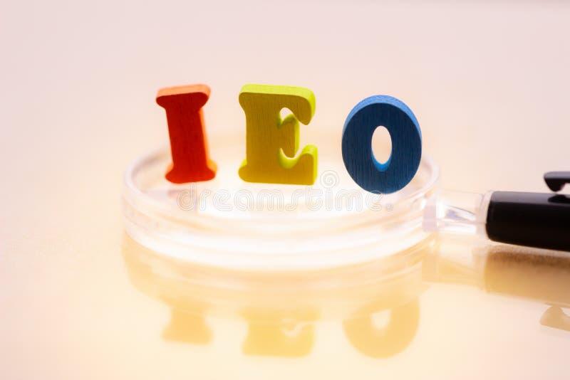 Offerta iniziale di scambio di IEO immagine stock libera da diritti