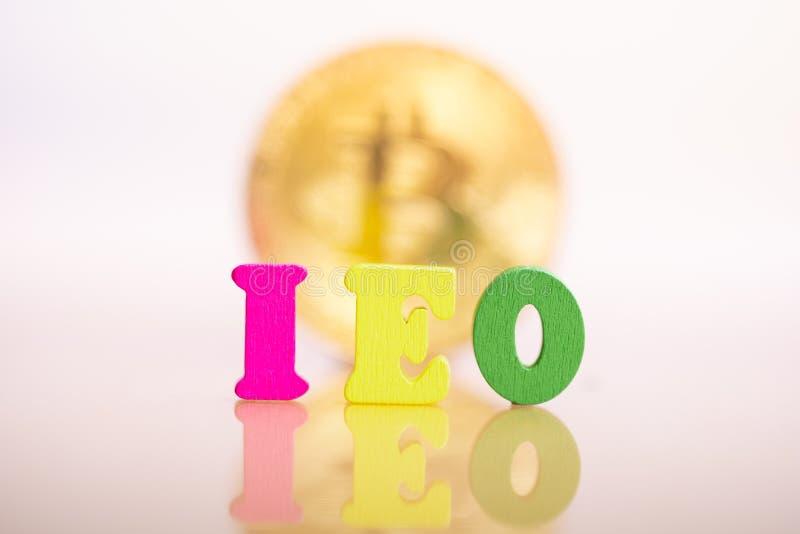 Offerta iniziale di scambio di IEO fotografie stock libere da diritti