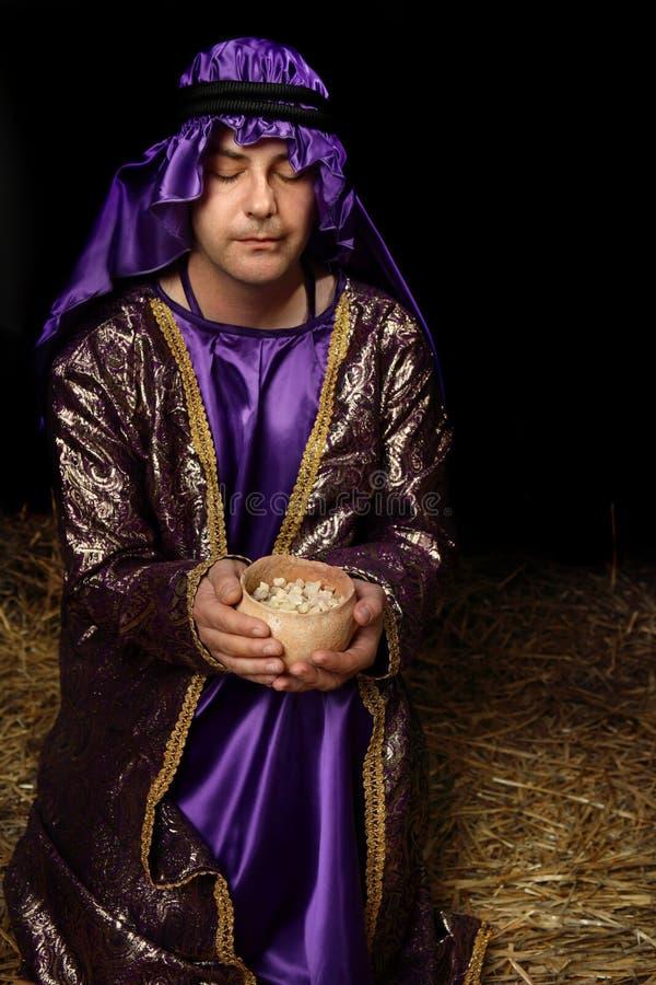 Offerta santa del Frankincense fotografia stock