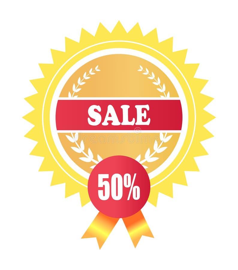 Offerta speciale 50 dell'etichetta di promozione premio di vendita illustrazione di stock