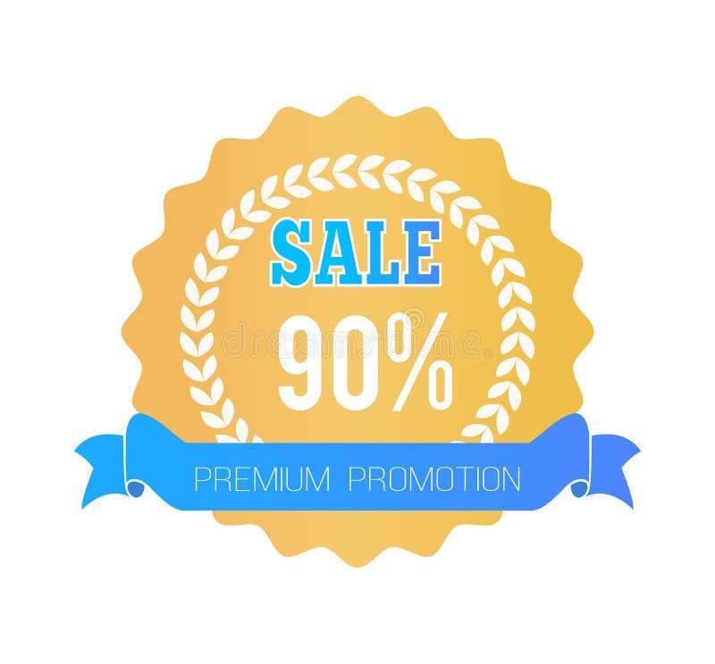 Offerta speciale 90 dell'etichetta di promozione premio di vendita royalty illustrazione gratis