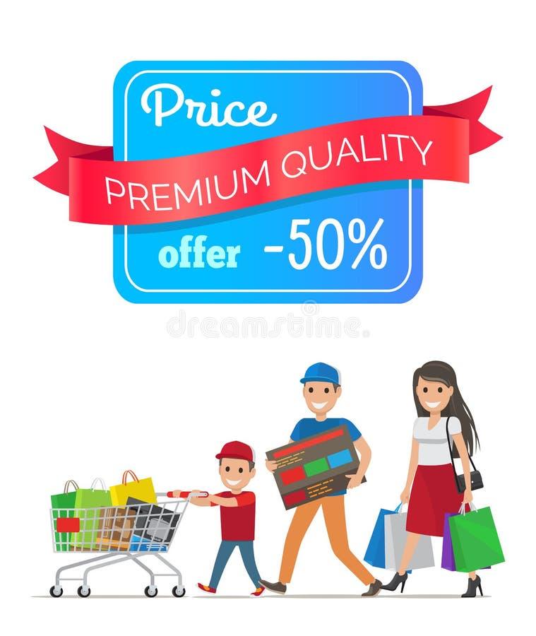 Offerta speciale premio di basso costo di offerta di qualità di prezzi illustrazione di stock
