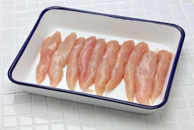 Offerte crude del pollo immagine stock