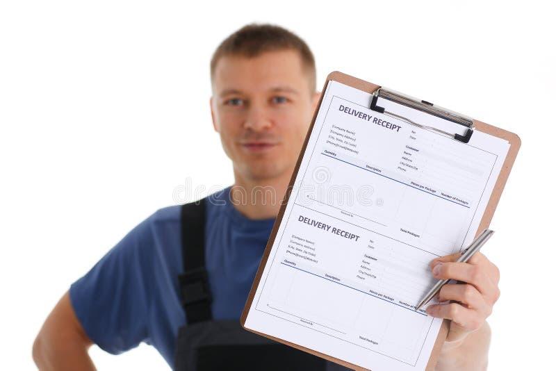 Offerte di servizio di distribuzione del corriere dello specialista immagini stock
