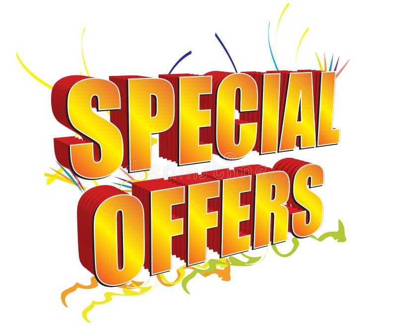 Offerte speciali 3D dorate illustrazione vettoriale