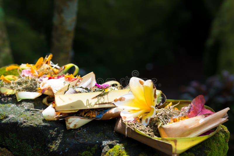 Offerti religiose tradizionali di balinese in Bali immagini stock libere da diritti