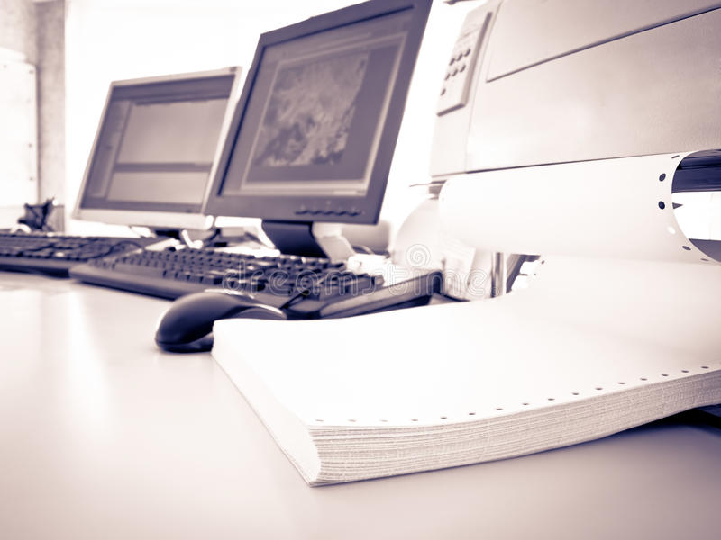 Download In the office stock image. Image of computer, desk, keyboard - 19968725