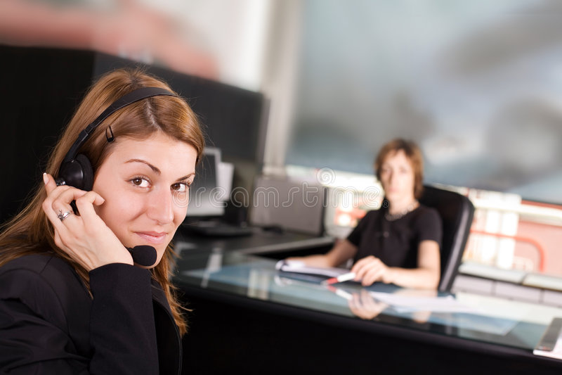At the office royalty free stock image