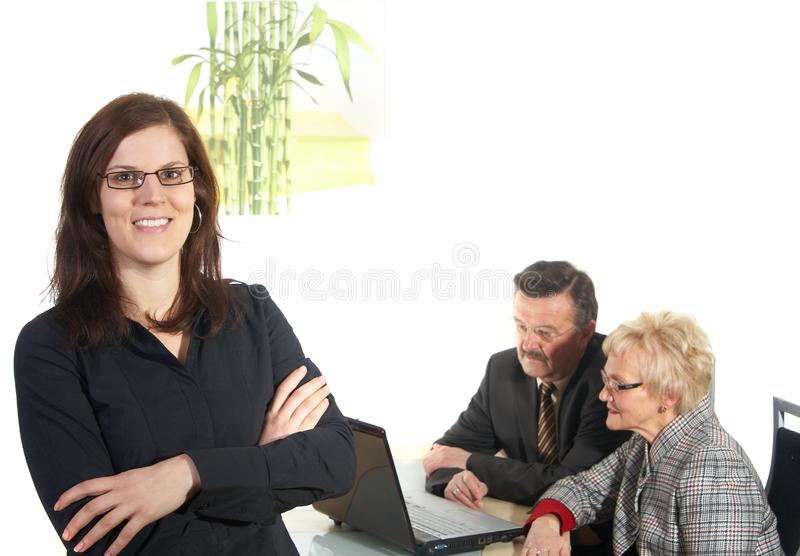In the office stock photos