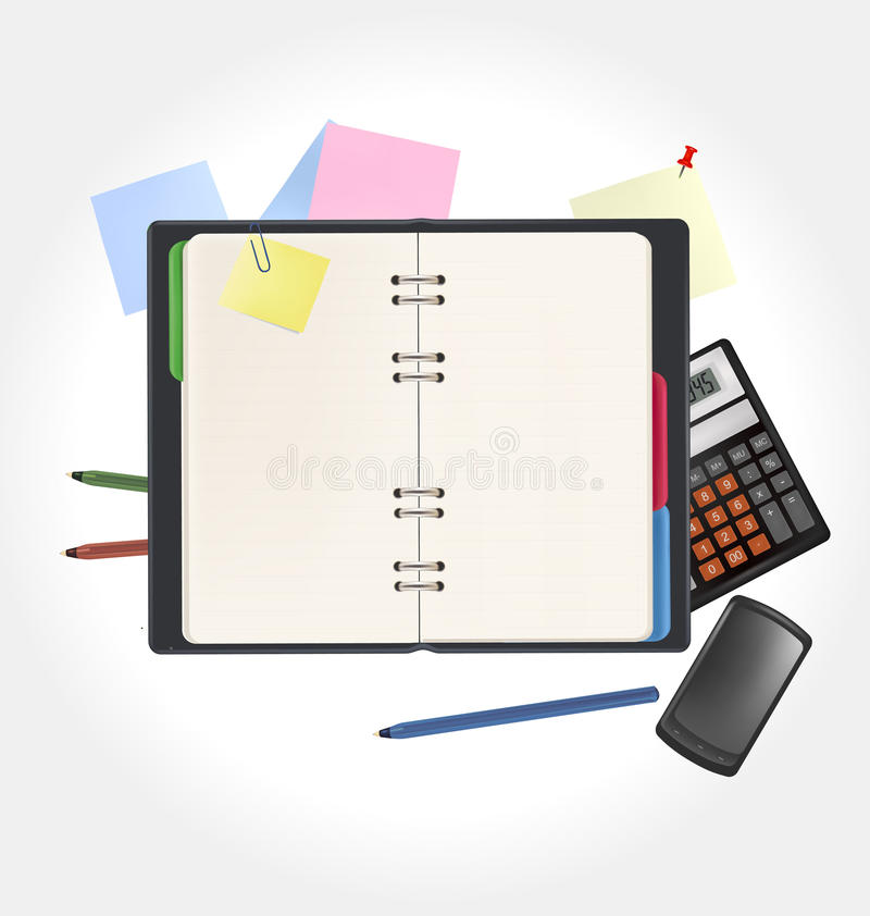 Office Accessories Package royalty free stock photography