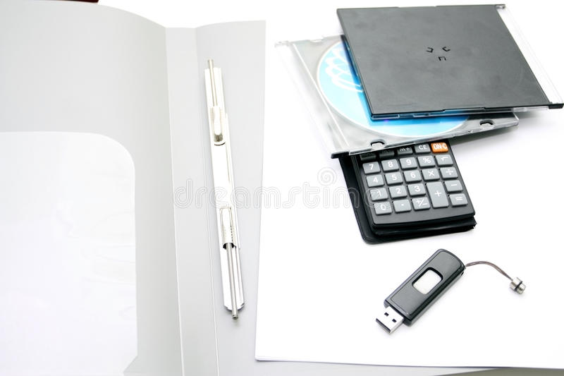 Download Office Accessories  On A White Background Stock Image - Image: 33651293