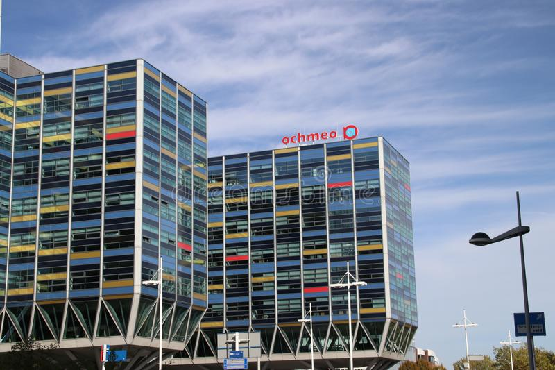 Office of the Achmea group in the city of Leiden,one of the biggest insurance companies in the Netherlands.  stock images