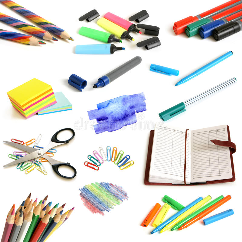 Free Office And School Supplies Collection Royalty Free Stock Image - 25270806