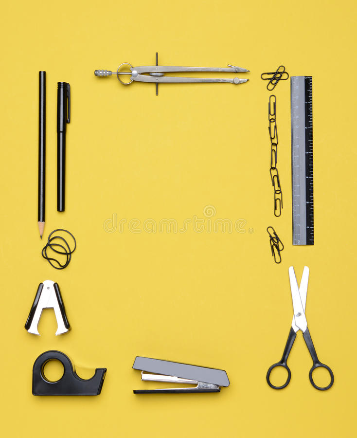 Office Back to School Supplies royalty free stock photography