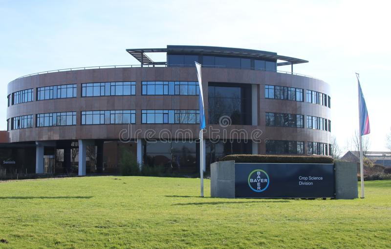 Office of Bayer Crop Science, formerly known as Monsanto, in Bergschenhoek in the Netherlands.  royalty free stock photo