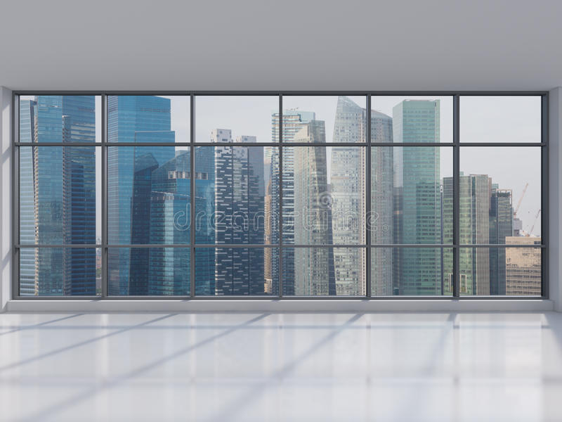 Office With Big Window Stock Image Image Of House City
