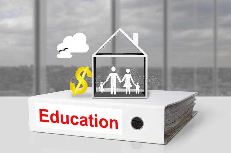 Office binder family house educations cost dollar symbol royalty free stock photo