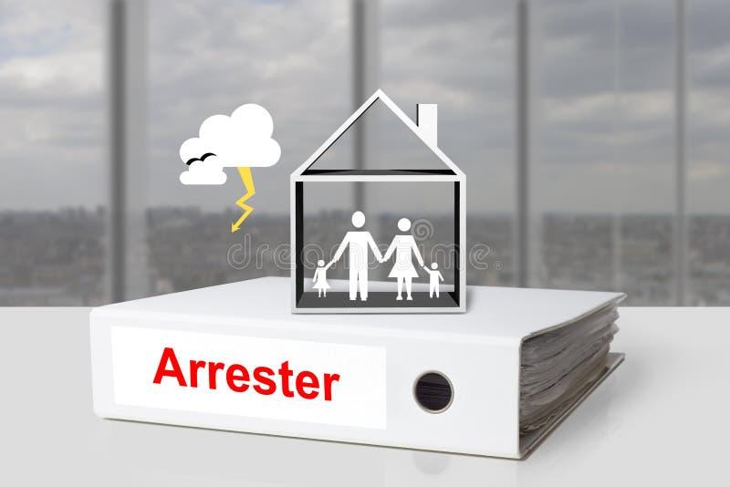 Office binder lightening arrester house family royalty free stock image