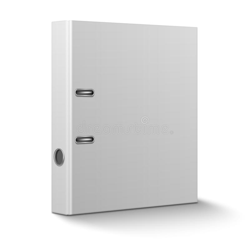 Free Office Binder Standing On White Background. Stock Photo - 36902720