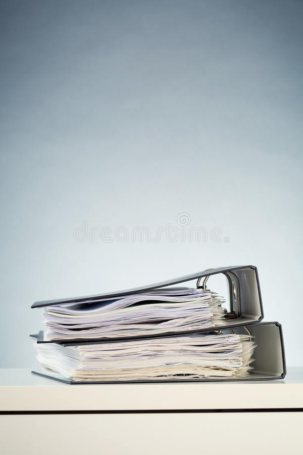 Office Binders with Documents stock photo