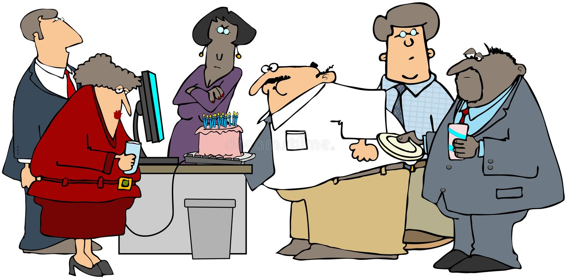 Office Birthday Party vector illustration