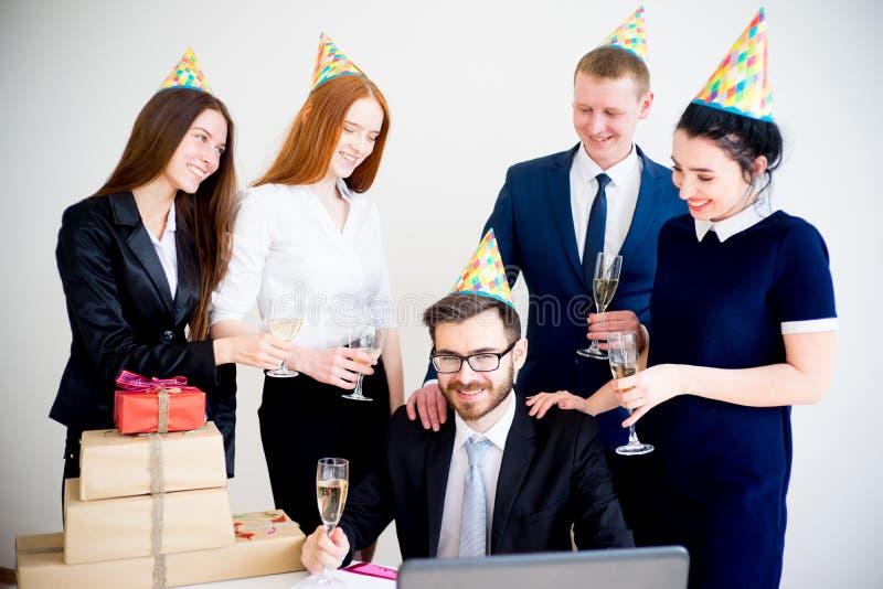 Office birthday party stock photos