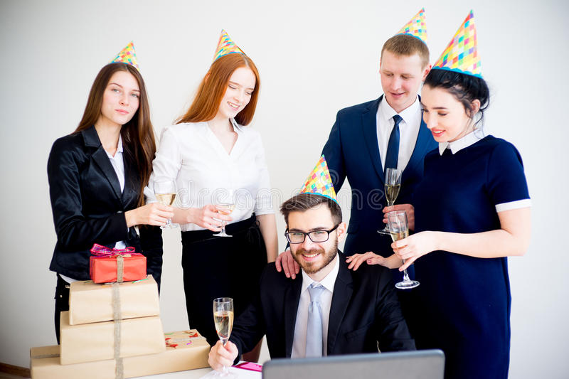 Office birthday party royalty free stock image
