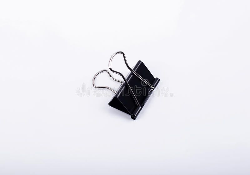 Office black clip on white background. Isolated royalty free stock images