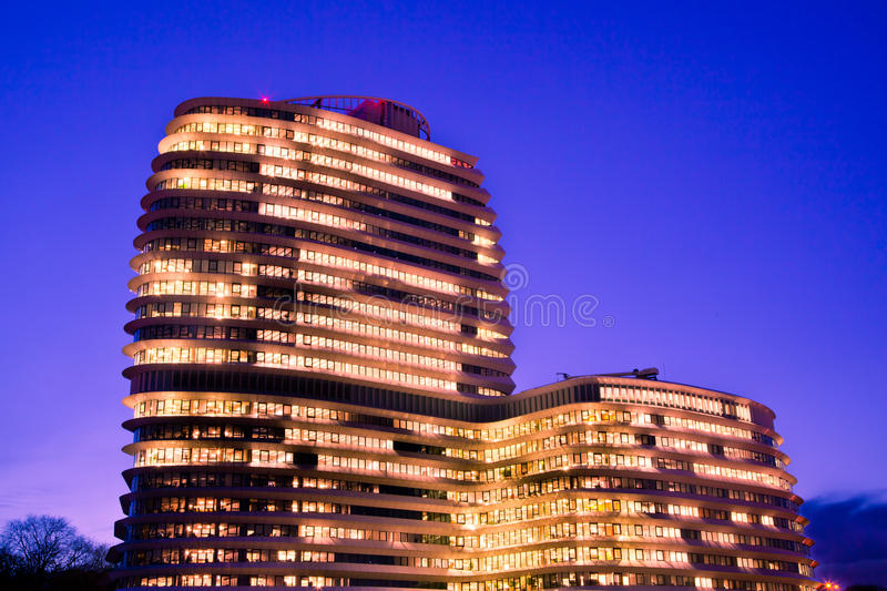 Download Office Blue Hour stock photo. Image of high, city, illumination - 29529068