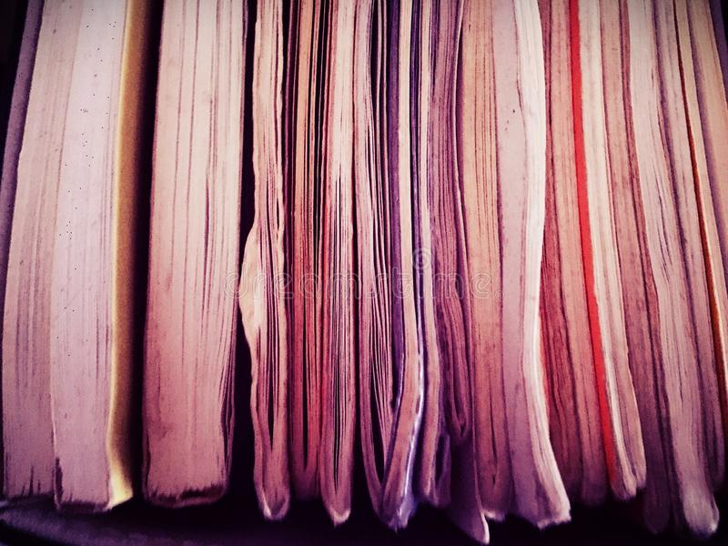 Office books and files. Paper booklets and filing for royalty free stock image