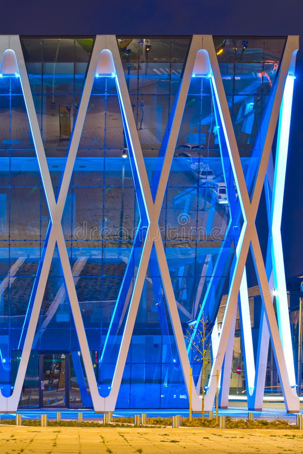 Download Office building stock image. Image of nighttime, structural - 12591613