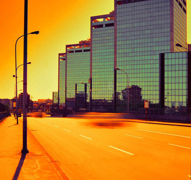 Download Office building stock photo. Image of office, city, sunset - 12742902