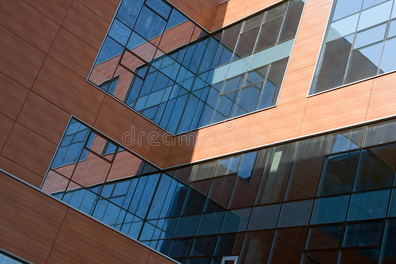 Download Office building stock image. Image of glass, mirror, clear - 12829203