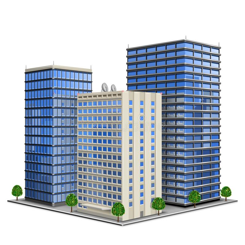 Office Building stock illustration