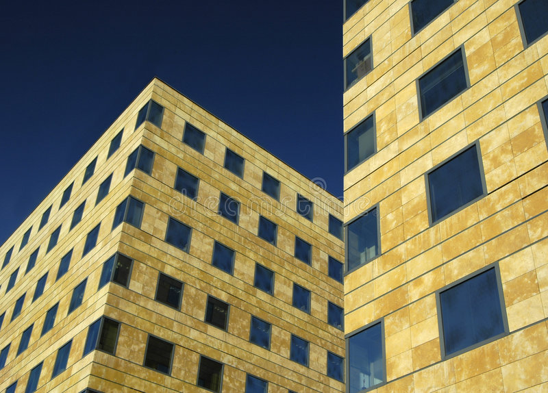 Office Building. Deatil of office buildings in Prague stock images