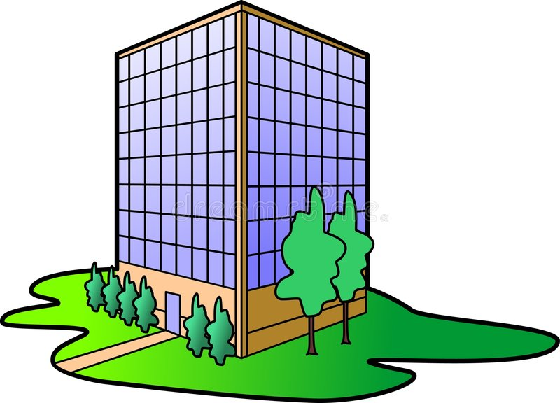 Download Office Building stock vector. Illustration of dwelling - 4037060