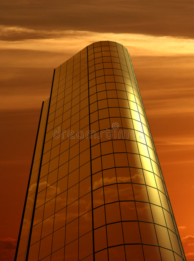 Download Office building stock illustration. Image of sunrise, sunset - 404258