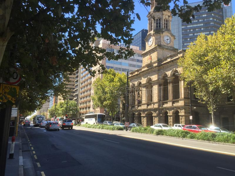 Government bell tower in adelaide stock image