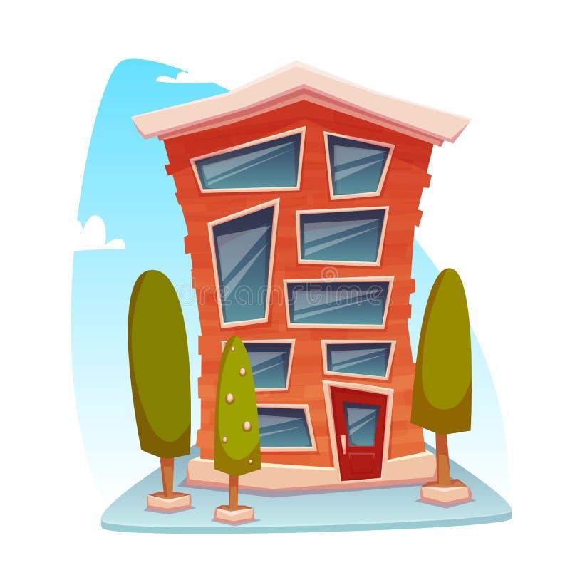 Office building cartoon concept. Vector illustration vector illustration