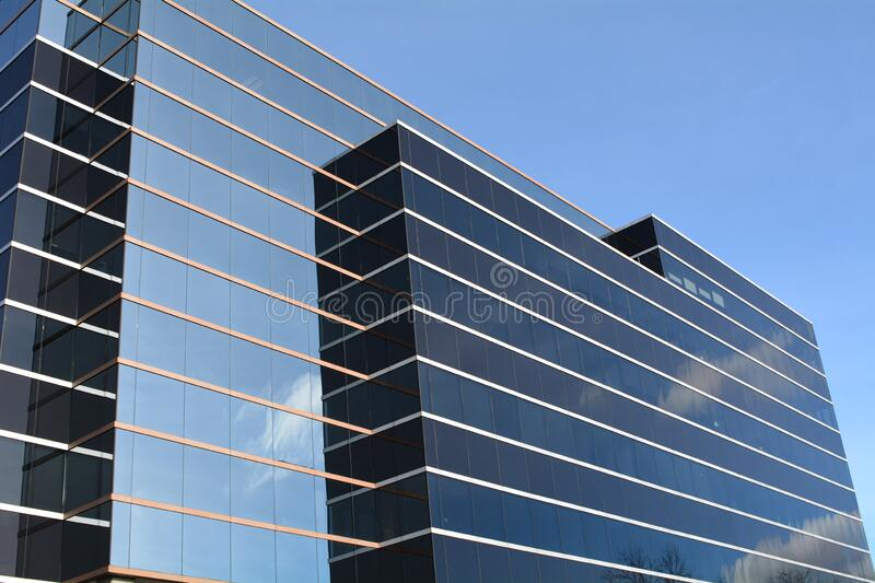 Office Building with cloud reflection in Vancouver, WA royalty free stock image
