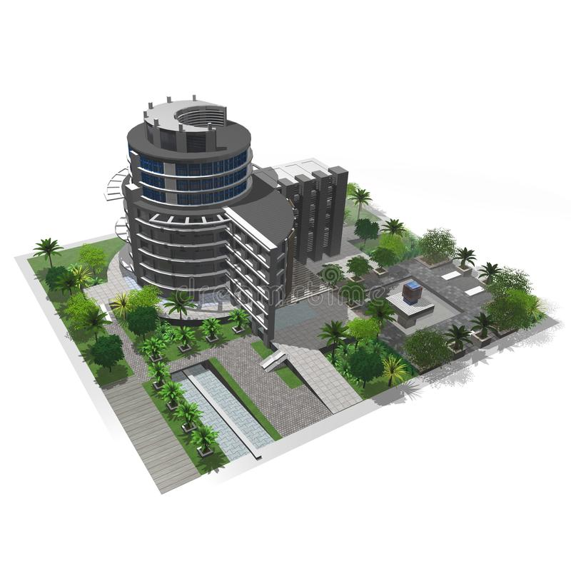 Download Office building stock illustration. Image of department - 30592501