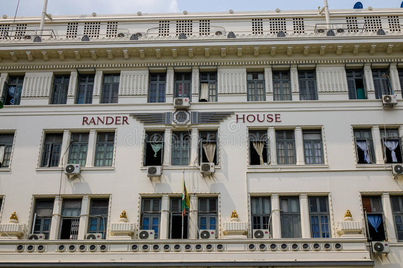 Office building at downtown in Yangon, Myanmar.  royalty free stock images