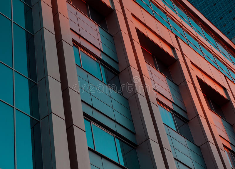 Office Building In The Evening Stock Photos