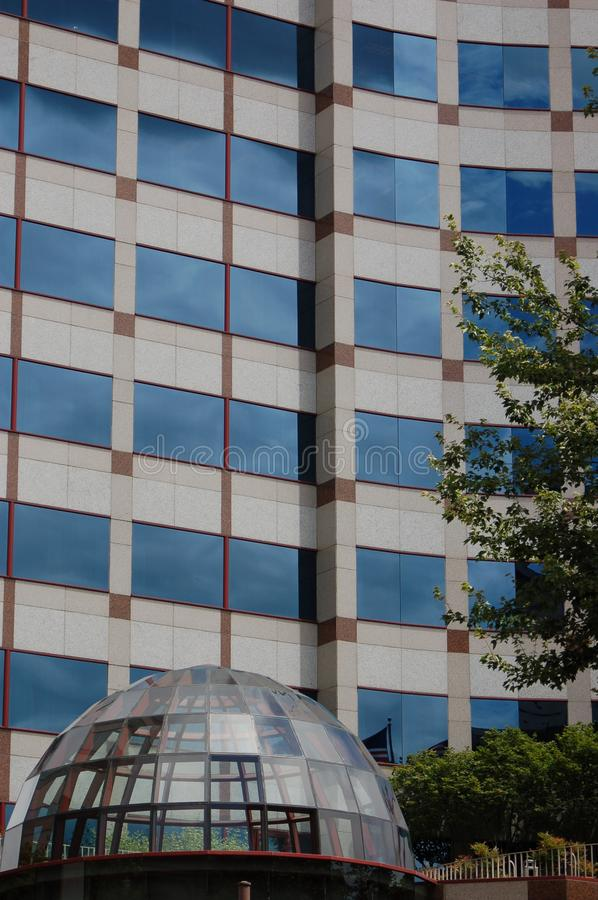 Download Office Building With Glass Dome Entrance, Portland, Oregon Stock Image - Image of windows, office: 105807071