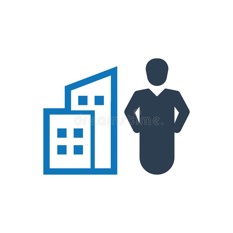 Office building icon. Simple Illustration Of A Office building icon stock illustration