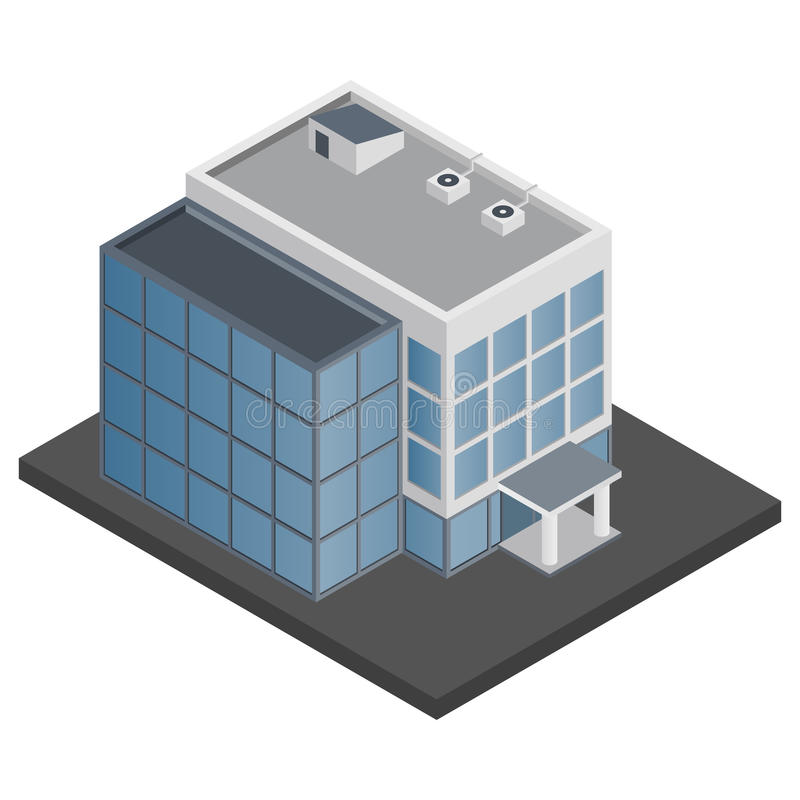 Free Office Building Isometric Stock Image - 40460031