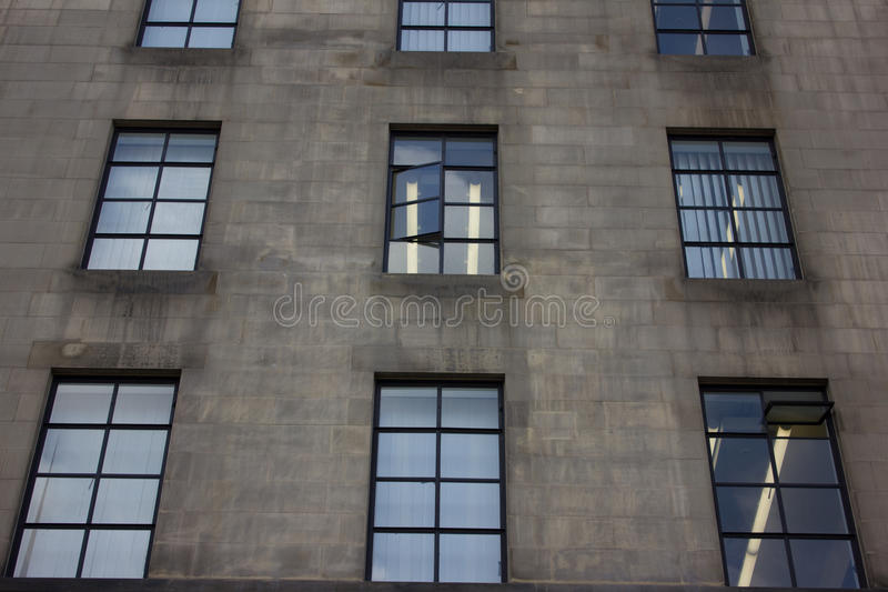 Office building windows stock photo