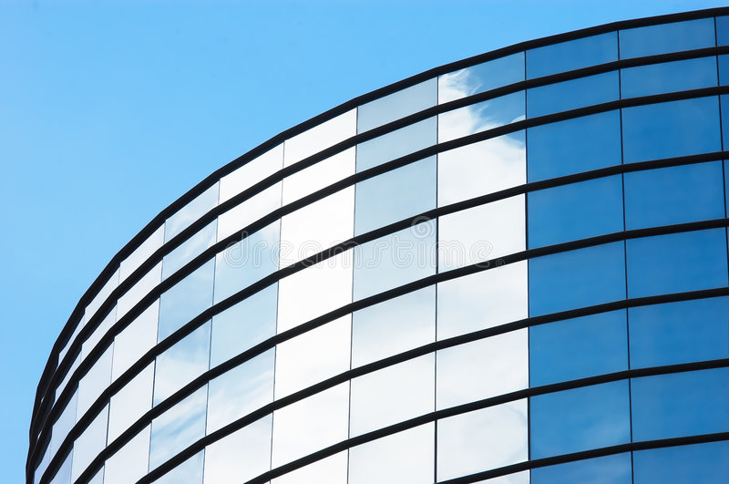 Office building mirror royalty free stock photography